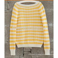 100% Cachemire Lady Knitted Pullover de haute qualité