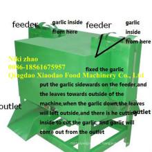 Máquina de corte de folhas e raízes de alho / cortador