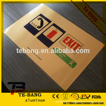 Certificate wooden sign sublimation metal aluminum blanks