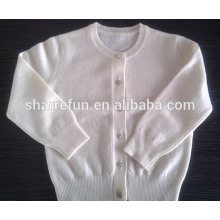 luxe super doux 12gg plat tricoté col rond bébé cardigan en cachemire