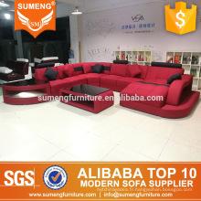 SUMENG salon mode rouge noir tissu canapé canapé