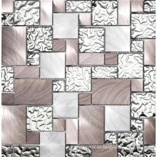Mosaico de metal de plata Mosaico de cocina de decoración de acero inoxidable Mosaico