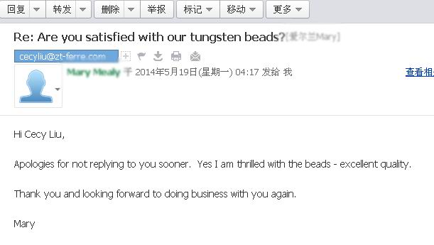 Comments of Tungsten Beads 6