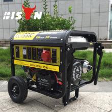 Bison China Taizhou refrigerado por aire de arranque eléctrico Batería 4.5KVA generador de energía de gasolina