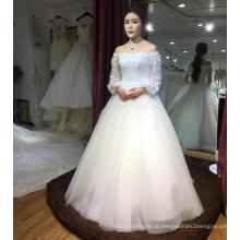 Champanhe leve a linha de vestido de noiva elegante 2017 WT307B