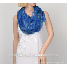 polyester printed infinity scarf YS425 165-1