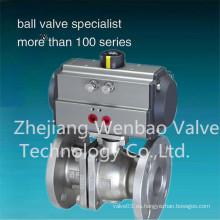 2PCS 150lbs Ss304 Válvula de bola con bridas de material