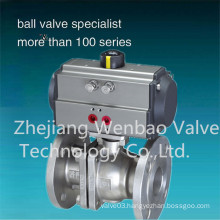 2PCS 150lbs Ss304 Material Flanged End Ball Valve