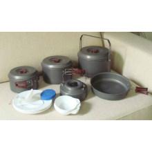 Caminhada ao ar livre Camping Cookware Set (CL2C-DT2315-8)
