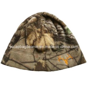 100% poliéster Inverno Polar Fleece Hat