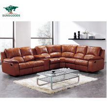 High Quality Bonded Leather Home Theater Recliner, Corner Seats Leather