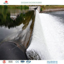 Buena resistencia de envejecimiento Inflatable Rubber Dam para aliviadero
