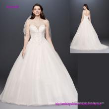 Vestido de novia espalda abierta escote corazón sin tirantes