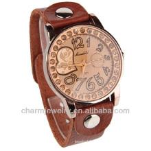 Neue Kristalldame Frauen Mädchen Brown Quarz Paar Liebhaber Armbanduhr WL-011