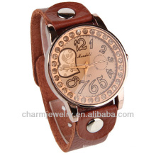 New Crystal Lady Women Girl Brown Quartz couple lover Wrist Watch WL-011