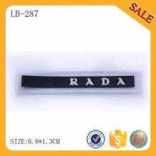 LB287 2015 Los accesorios baratos del pvc modificaron para requisitos particulares el remiendo de goma de la insignia de la marca de fábrica para la chaqueta