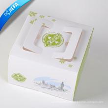Acepte una caja de papel impresa personalizada para la prenda con ventana