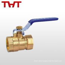 lever lead-free cw617n brass ball valve brass body dn20
