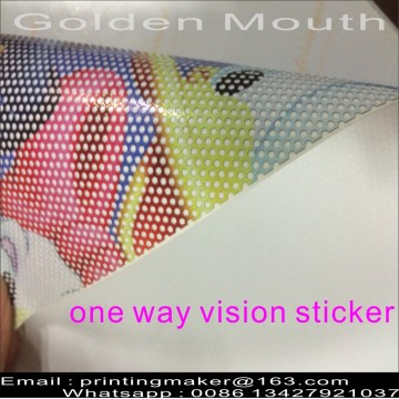 Custom One Way Vision Stickers para Window