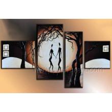 Pintura a óleo africana atrativa abstrata Handmade da mulher de 100% para a decoração (AR-149)