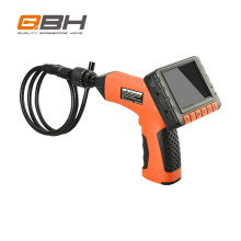 Portable industry borescope with 5.5mm camera lens, 2-way articulating inspection camera