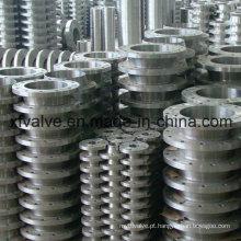 Aço de carbono forjado e aço inoxidável ANSI soldagem pescoço Flange