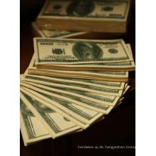 Kundenspezifisches kreatives lustiges Dollar-Servietten-Gewebe für förderndes Geschenk