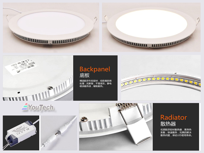 12W led downlight details