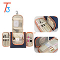 Portable Hanging Toiletry Bag/ Portable Travel Organizer Cosmetic Bag for Women Makeup or Men Shaving Kit with Hanging Hook for