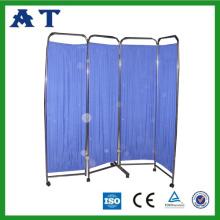 Stainless steel 4 panel folding ward screen