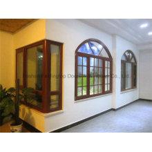 Top Quality Aluminum Cladding Wood Color Casement Windows (FT-W108)