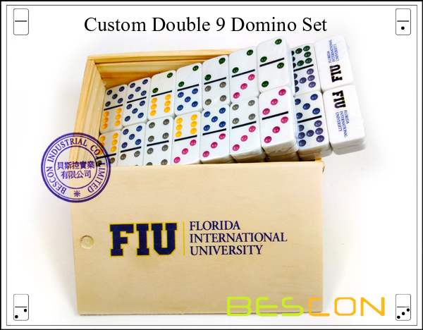 Custom Double 9 Domino Set-4