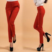 Moda senhora modelo calças, multi cores calças