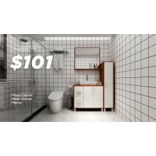 Mueble de baño de madera de diseño simple y moderno