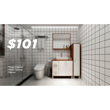 Armário de banheiro de madeira do projeto simples moderno