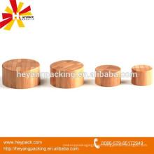 Atacado de madeira / tampa de rosca de plástico