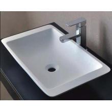 Ручная стирка Современный дизайн Белая ванная мраморная раковина (BS-8325)