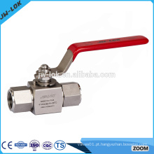 Válvula de esfera de aço inoxidável de alta pressão de uma peça dn20