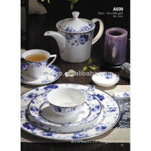 A063 french style royal cute stoneware tableware dinner set