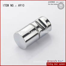 chrome polished aluminum glass door pull handle