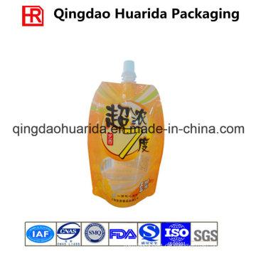 Kundenspezifische Verpackungsbeutel, Standbeutel mit Ausguss für Getränke