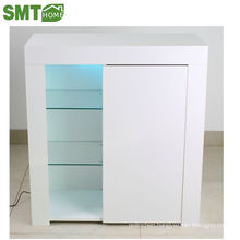 High gloss side cabinet tempered glass KD in package cheap price for sale