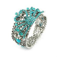 Красивый дизайн павлин горный хрусталь браслеты смолы браслеты и браслеты BA30