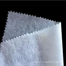 Chemise à col chemisier non tissé lavable aux enzymes