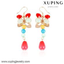 92600- Xuping New eingefärbte neueste Modelle gold hängenden Ohrringe