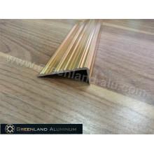 Aluminium Profile Step Edge Trim with Anodized Bright Gold Color