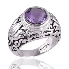 Купить лучшие старинные фиолетовый Аметист 925 серебро заявление кольца для всех случаю подарок