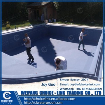 for swimming pool two component polyurethane PU waterproof coating