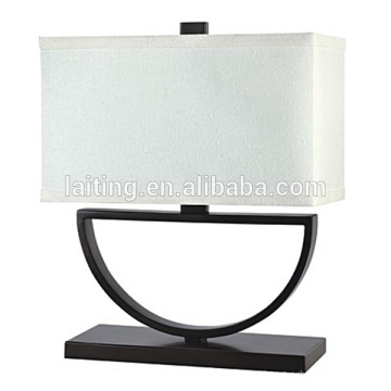 Hotel Modern Decoration Table Lamp with White Fabric Lampshade