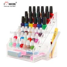 Einzelhandel Shop Acryl Kosmetik Nagellack Display Regal zu unseren Kunden Custom Customs für die Beauty Display Industrie